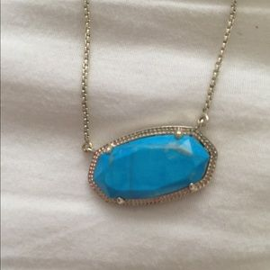 Kendra Scott Delaney necklace, turquoise and gold